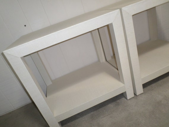 Custom Built Grasscloth End Tables - Design Your Own to Suit Your Space