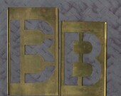 Letter B Stencil Brass for a 6 inch Letter