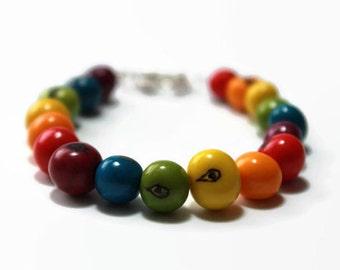 Rainbow pride jewelry- acai bracelet