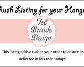 RUSH LISTING Personalized Bridal Hanger, Brides Hanger, Dress Hanger