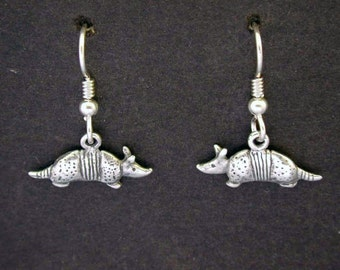 Sterling Silver Armadillo  Earrings on Sterling Silver French Wires