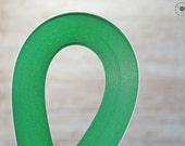 """green paper strips //  Paper Quilling Strips //  GREEN // 100 STRIPS // 2 mm wide //  297 mm 11,7"""" long"""