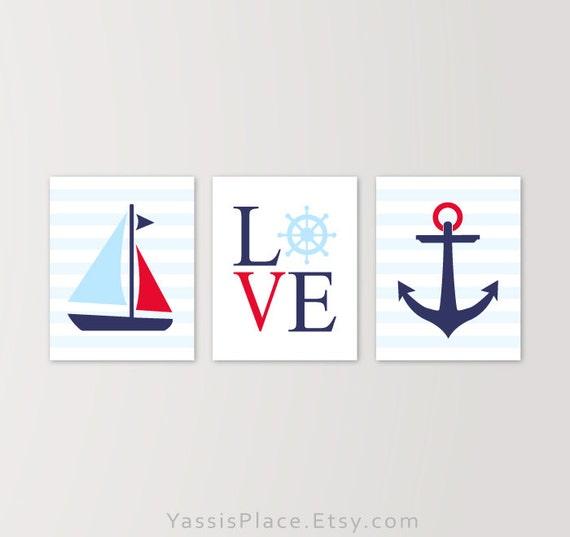 Nautical Nursery Decor Striped Nautical Boy Decor Love - cheap home decor for nautical nursery