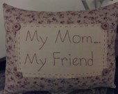 COSOFG, Handmade, Mother, Hand Embroidered, Pillow