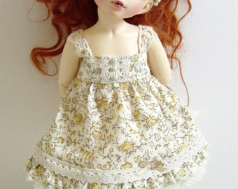 LTF/LittleFee/Yo-SD BJD Limited Edition Classic Yellow Rose and Lace Dress
