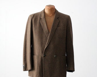 vintage YSL men's blazer, wool sport coat