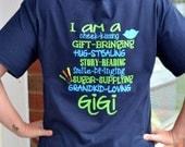 Custom Shortsleeve  Grandma Shirt - Grandkids - Grandparents - Mothers Day
