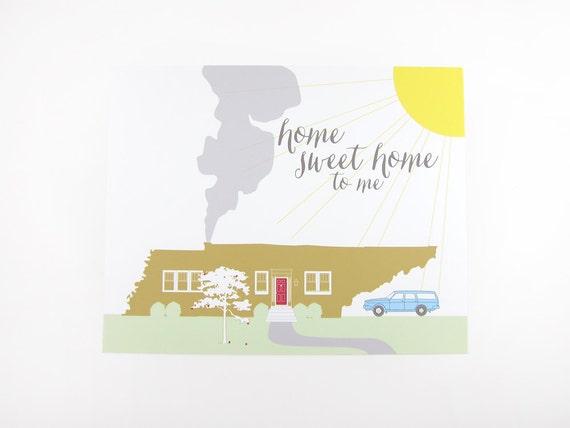 Home Sweet Home to Me (Tennessee): Art Print