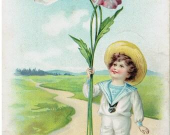 Antique Valentine Raphael Tuck's  Postcards Series 11 Floral Missives 1908 With Fond Love to My Valentine Paper Ephemera Valentine's Day