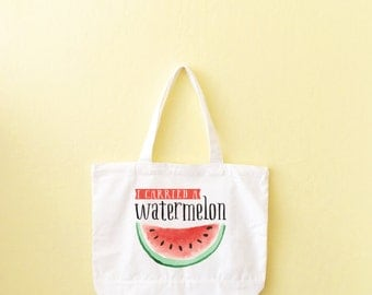 Mom Gifts, Dirty Dancing, I Carried A Watermelon, Gift For Her, Tote Bag, Sturdy Bag, Heavyweight Canvas Tote, Farmer's Market Tote