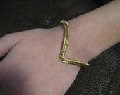 Brass V Cuff Bracelet