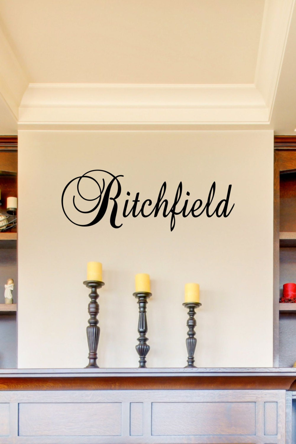 custom last name vinyl decal family vinyl wall art decal. Black Bedroom Furniture Sets. Home Design Ideas