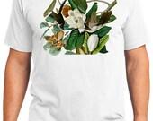 Black-billed Cuckoo Bird Retro Men & Ladies T-shirt - Gift for Bird Lovers and Ornithologist (idc032)