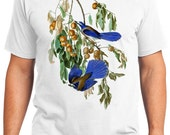 Florida Jay Bird Retro Men & Ladies T-shirt - Gift for Bird Lovers and Ornithologist (idc087)
