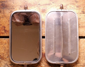 Pair of Vintage Ford Truck Mirrors - Large Rectangular Automotive Mirrors