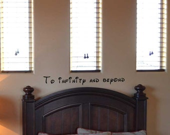 To infinity and beyond quote wall decal BC693 walt disney toy story buzz light year vinyl lettering wall words stickerd decal quote