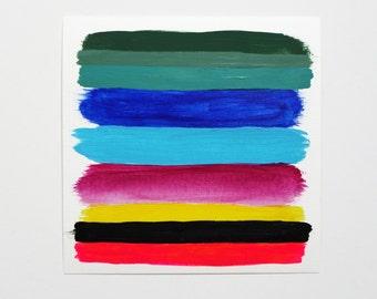 Palette Color Study Two 6x6 canvas paper original painting