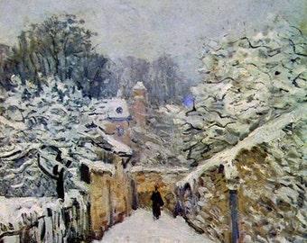 Winter in Louveciennes - Cross stitch pattern pdf format