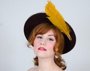 1940s vintage hat / wool hat / Milgrim