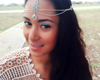 Weddings Bridal Headpiece Wedding Headpiece Head Chian Bridesmaid Accessories Hair Jewelry Head Jewelry Chain Headpiece Head piece - Clear