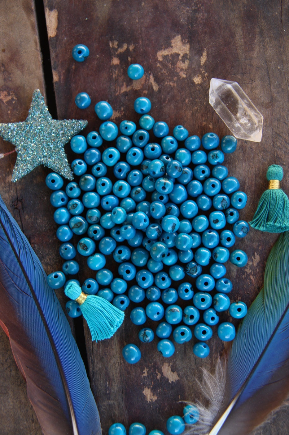 Deep aqua real natural acai beads south american eco for Natural seeds for jewelry making