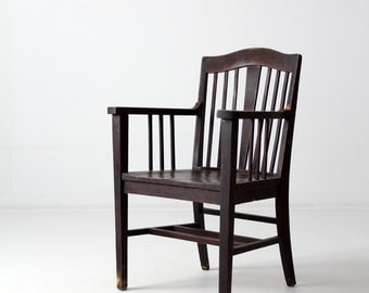 antique Arts & Crafts wood chair