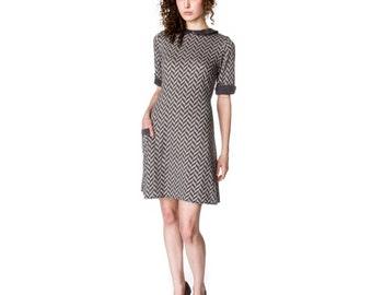 A-line Mod Dress with Peter Pan collar