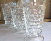 Vintage Whitehall Glasses Colony Clear Iced Tea Flared Glassware - #3388