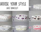 Ajustable Lace Bracelets - Ballerina Gift - Small Stocking Stuffer - Lace Bracelets - Princess Bracelet - Romantic Lace Jewelry Bracelets