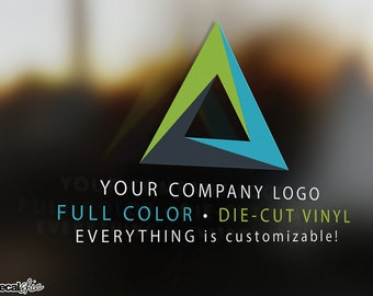 FREE SHIPPING Full Color Custom Logo & Text ~ Car Decal ~ Window Decal ~ Laptop Decal ~ Wall Decal ~ Glossy / Matte ~ DieCut Vinyl ~ Sticker