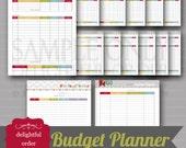 Budget Planner Printable Bundle (14 pages) PDF Printable Files - Instant Digital Download