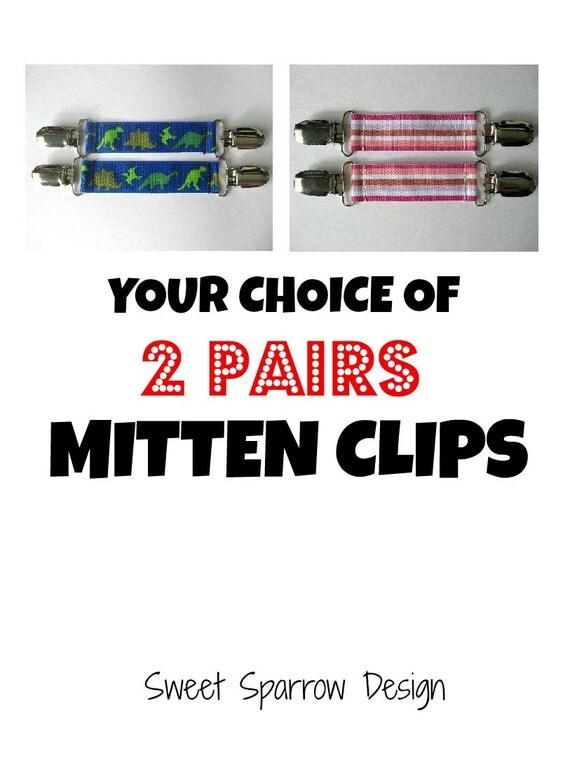 Kids MITTEN CLIPS for Children Winter Jackets- Buy 2 & SAVE Sale- Mitt Clip- Kids Glove Clip- Sleeve Clip- Kids Gift Idea- Mitten Keeper