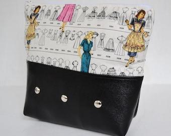 Retro Couture Makeup Bag or Pencil Case