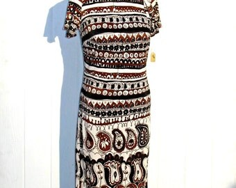Carnaby Street Dress * 60s Shift Dress * 1960s Dress * Mod Dress * Brown and Black Dress * Mad Men Dress