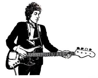 Bob Dylan, woodcut