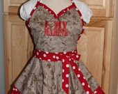 I Love My Marine Retro Apron -- Ready to Ship