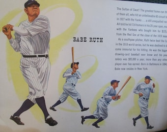 """Vintage Sports Booklet """"Famous Names In Baseball.""""  Men's Fashions Store Give-A-Way.  Y-009"""