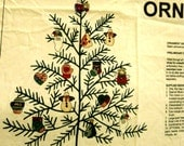 Folk Art Christmas Ornaments - Sewing Fabric Panel