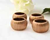 Copper Napkin Rings - Set of 4 - Dinner Party Decor