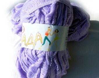 Ruffle yarn, Sashay yarn, mesh yarn, ruffling yarn, Lambada yarn, flamenco yarn, can can yarn fantasy yarn. Ruffle skirt and scarf yarn.