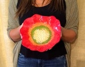 Large Red Poppy Bowl