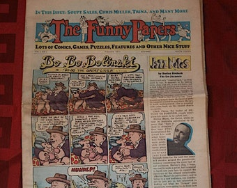 The Funny Papers 1975 Robert Crumb Number 1 Dana Crumb Bode Trina LIttle Nemo Todd Soupy Sales Comic Comix Newspaper