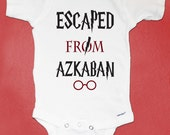 Harry Potter Inspired Baby Onesie, Escaped From Azkaban, Harry Potter Baby Gift, Baby Shower Gift