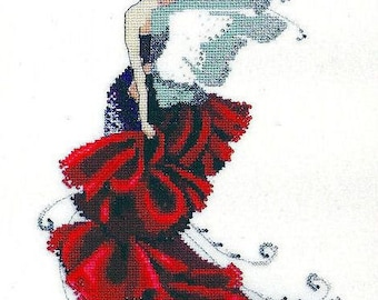 Cross Stitch Pattern Poppy by Nora Corbett 7.5 x 11.25 inches on 14-count, Fairy Cross Stitch, Pixie Collection, Mirabilia Cross Stitch