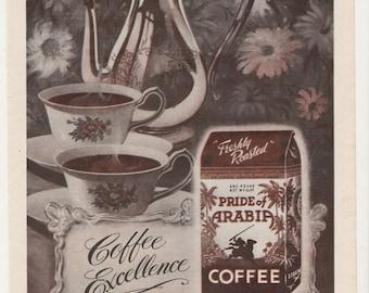 1951 Advertisement Loblaws Coffee 50s Pride of Arabia Kitchen Diner Cafe Coffee Retro Mid Century Wall Art Decor