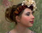Autumn fairy crown. Costume headdress. Woodland wedding headband. Bridal flower crown. Rustic wedding.