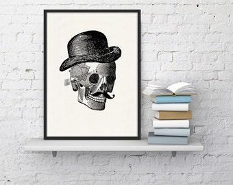 Mr skull collage  Print - Science prints wall art- Anatomy prints wall decor WSK021