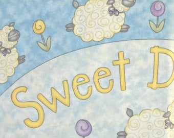 Sweet Dreams Brushed Cotton Panel Fabric, by Moda Fabrics, 100 Percent Cotton, 1 panel cut