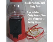 """D-I-Y Gumball Machine / Bank with Giftwrap included - CANDY NOT INCLUDED - 6.25"""" Tall / Bar Mitzvah Bat Mitvah Favor / Birthday Favor"""