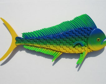 Dorado Fish Bottlecap Metal Wall Art